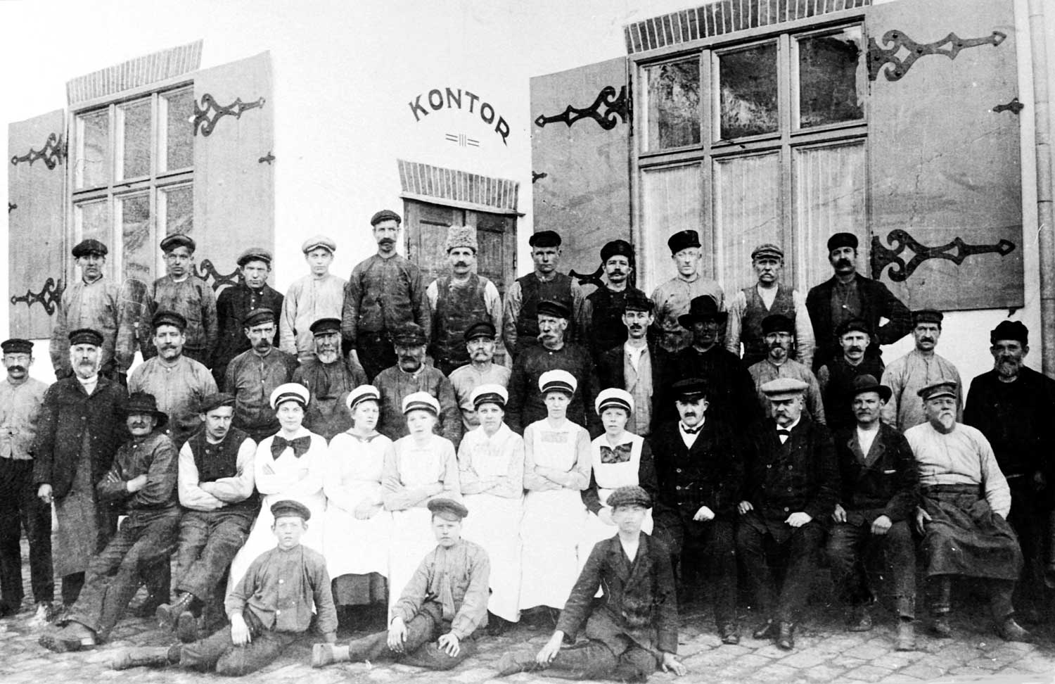 Jästbolaget's staff in the early 1900s