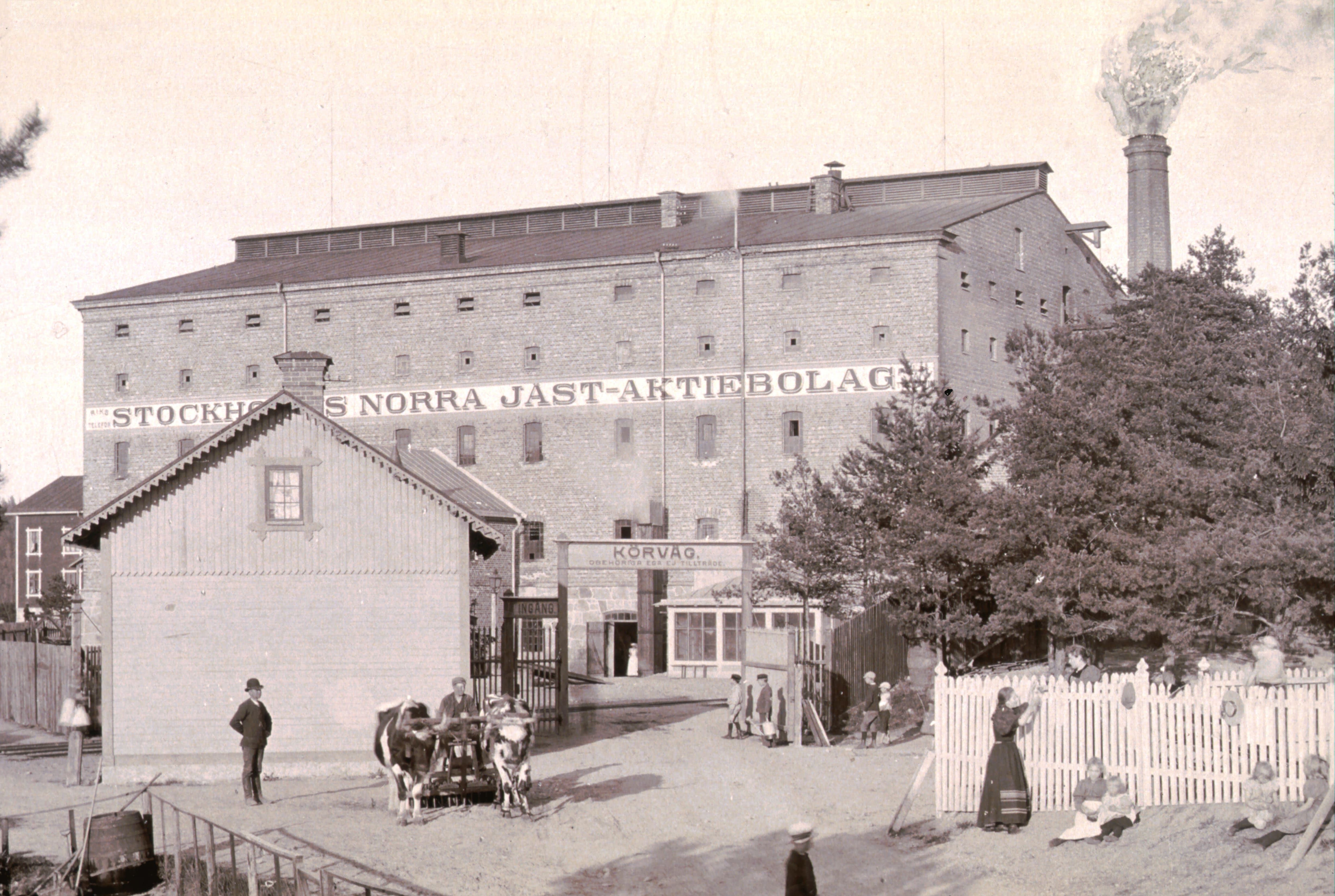 aStockholm's Norra Jästaktiebolag in the early 1900s
